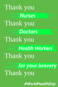 Thank you in Covid-19 Poster Template