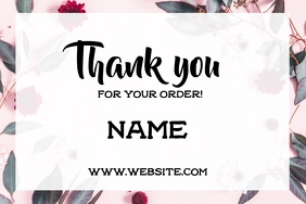 Thank you label Etiket template