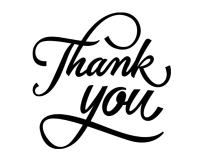 Thank you lettering with curls Large Rectangle template