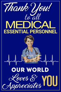 Thank You Medical Personnel Poster