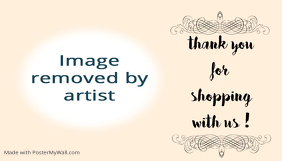 thank you message card label tag