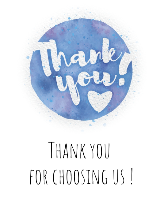 thank you message card label tag marketing