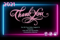 Thank You Note Póster template