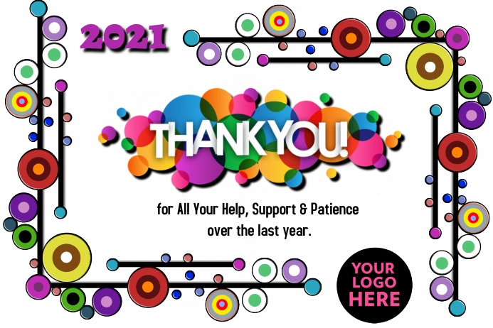Thank You Note Poster template