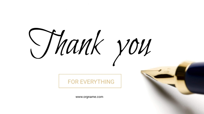 Thank you Note poster Digital Display (16:9) template