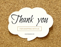 Thank you Note poster Flyer (US Letter) template