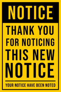 Thank You Notice Sign Board Template