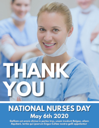 thank you nurses flyer advertisement design template