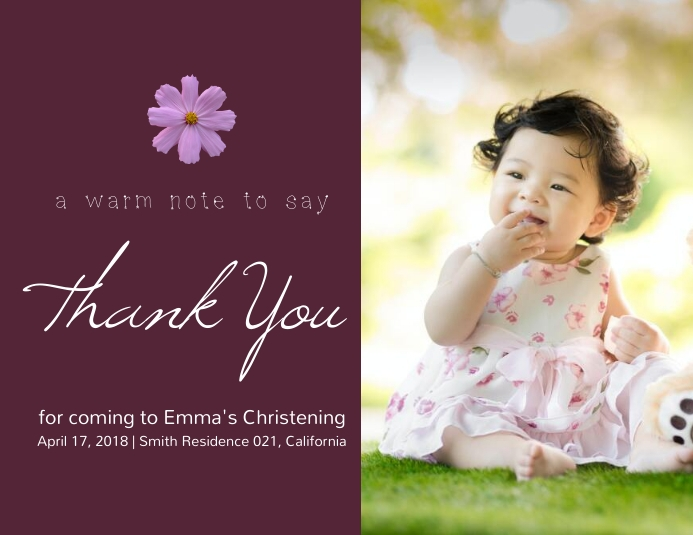 Thank You Online Greeting Card Template