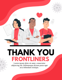 thank you paramedics, thank you health care Flyer (US Letter) template