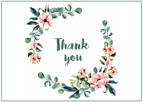 Thank you Post Card Postal template