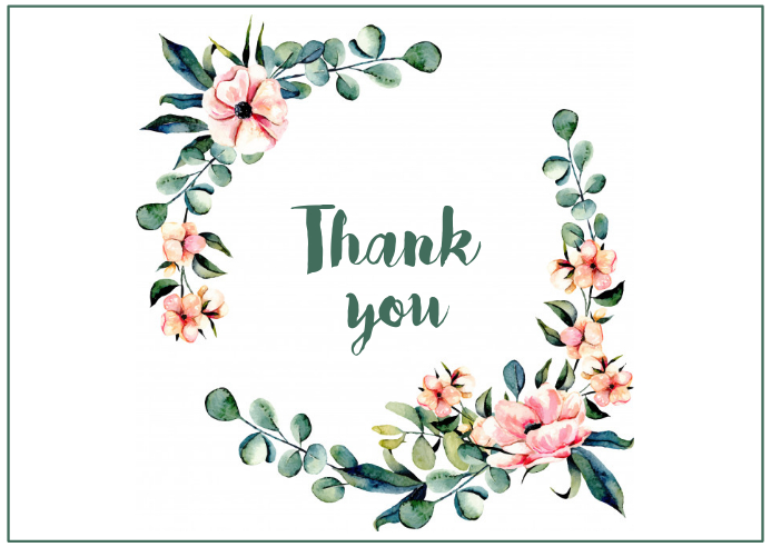 Thank you Post Card template