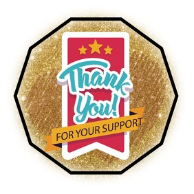 THANK YOU STICKER / CARD Logo template