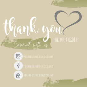 Thank you sticker template Logo