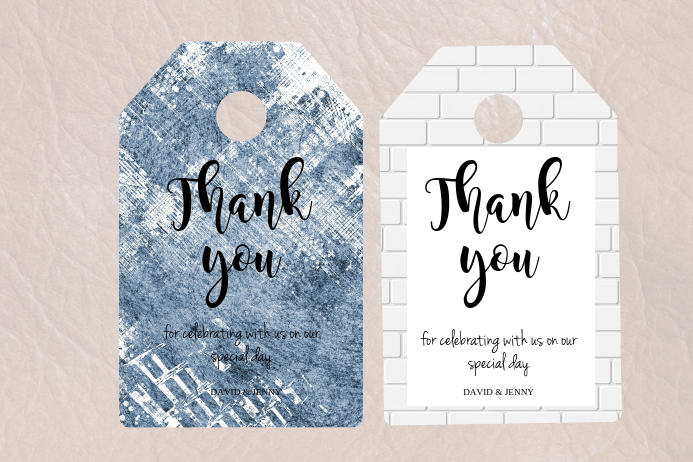 Thank You Tag Template Postermywall