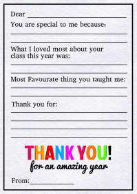 Thank you Teacher Gift Template A4