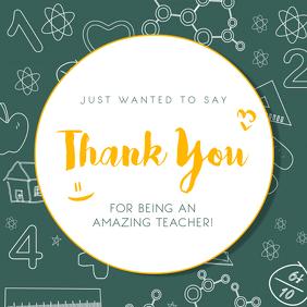 Thank you Teacher Instagram Post