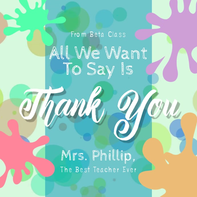 Thank you Teacher Square Video
