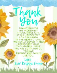 Thank You Template Рекламная листовка (US Letter)
