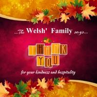 Thank you thanksgiving card poster Publicação no Instagram template