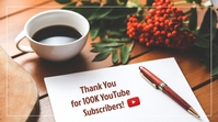Thank You to All Our Subscribers Template YouTube Thumbnail