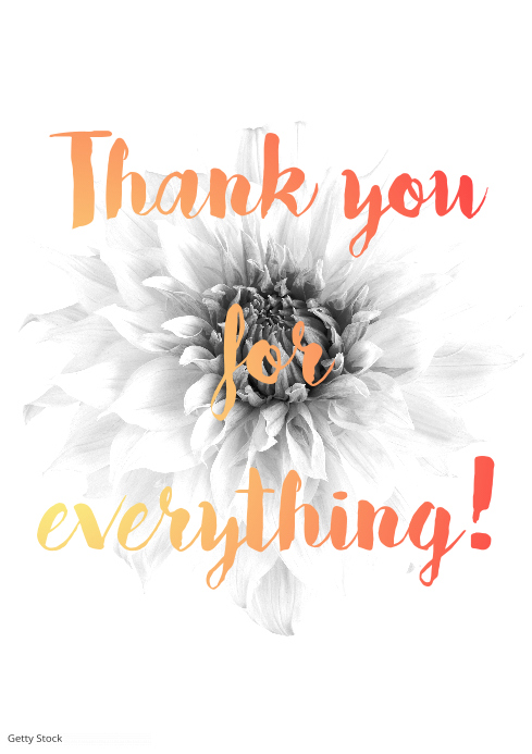 Thank You Wall Art Birthday Gift Template