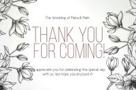 THANK YOU wedding CARD CARDS Template Etiqueta