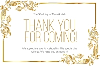 THANK YOU wedding CARD CARDS Template Etiket