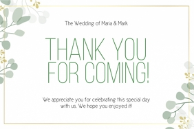THANK YOU wedding CARD CARDS Template