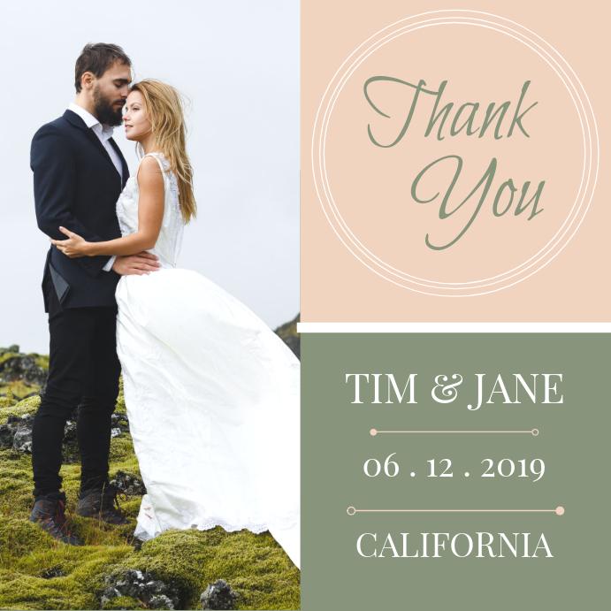 Thank you Wedding Card Instagram