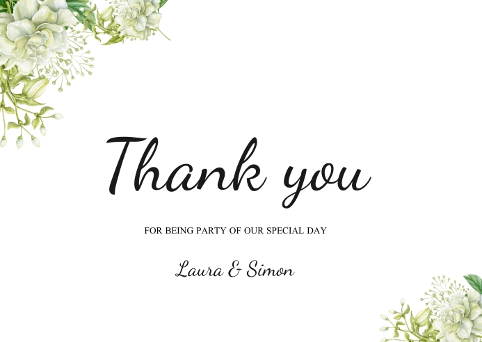 thank you wedding thank you card