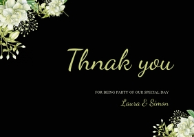 thank you wedding thank you card
