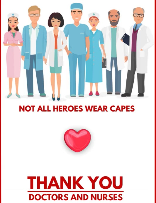 THANKING DOCTOR Flyer (US Letter) template