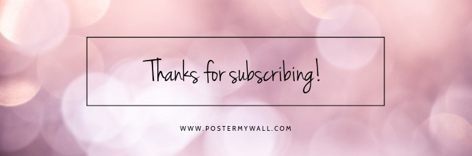Thanks for subscribing email header template E-mail-overskrift