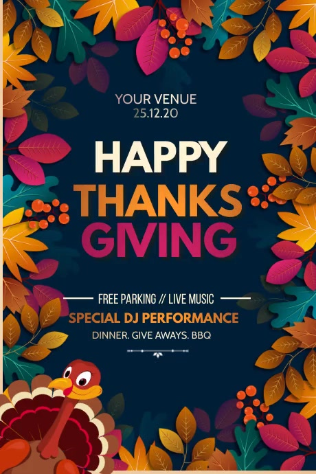 thanks Giving, autumn sale, autumn Poster template