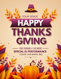 thanks Giving, happy thanks giving Ulotka (US Letter) template
