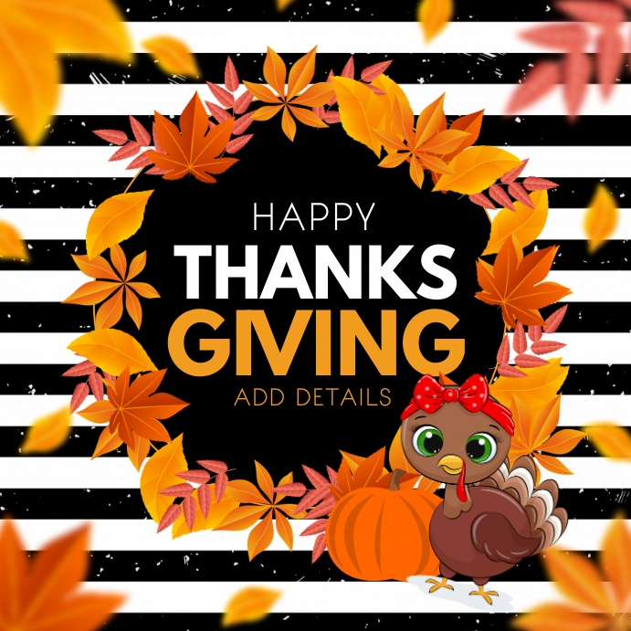 Thanks giving, Happy thanksgiving Kvadrat (1:1) template