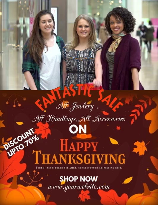 THANKS GIVING FLYER ใบปลิว (US Letter) template