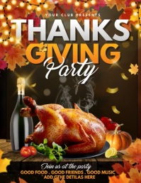 thanks giving flyers,event flyers,party flyer Volante (Carta US) template