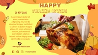 Thanks Giving Poster Facebook Facebook-omslagvideo (16: 9) template