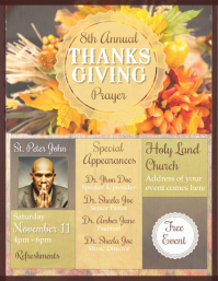 Thanks Giving Prayer Flyer Template