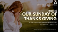 THANKS GIVING sunday church flyer 数字显示屏 (16:9) template
