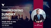 THANKS GIVING SUNDAY Digitale display (16:9) template