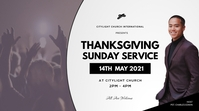 thanks giving sunday service Цифровой дисплей (16 : 9) template