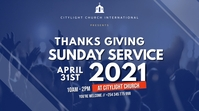 thanks giving sunday service Tampilan Digital (16:9) template