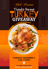 Thanks Giving Turkey Giveaway Flyer