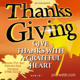 Thanks Giving Video Template