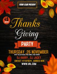 Thanks givingflyers,Autumn flyers,party flyer