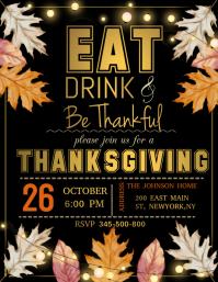 thanksgiving, thanksgiving dinner Flyer (format US Letter) template