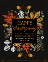 thanksgiving, thanksgiving dinner Volante (Carta US) template